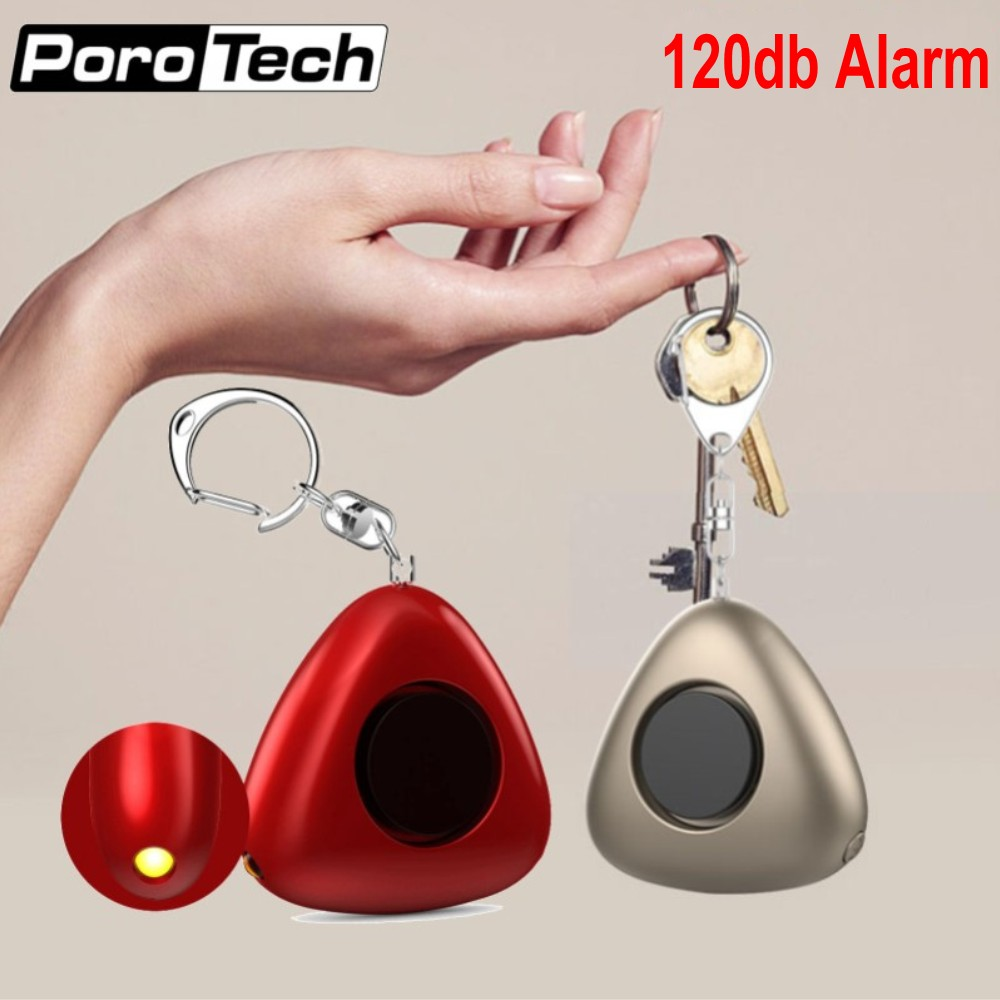 10pcs 120dB Personal security alarm Keychain with LED Flashlight Mini Self Defense Alarm Emergency Panic Anti-Attack SOS Alarm 5 pcs pink sos personal angel wings alarm anti attack protection safety personal security alarm system keychain