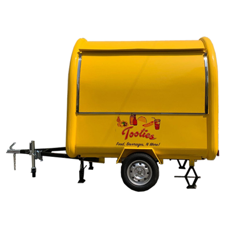 USA standard KN-220B yellow color mobile food carts/trailer/ ice cream truck/snack with food logo and 4 water sinks
