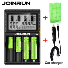 Joinrun S4 18650 Smart Battery Charger For 18650 14500 16340 26650  Ni-MH AAA AA Smart Li-ion Battery Charger with Battery case