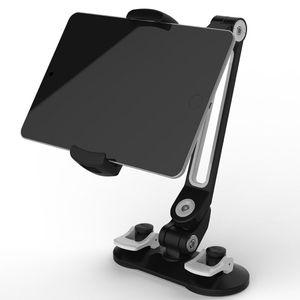 Image 2 - Универсальный автомобильный держатель для планшета, алюминиевый сплав, эргономичный, вращающийся на 360 градусов, двойная присоска, подставка для ленивых людей для iPad, iPhone