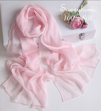 2015 женщины Шарфы для весна шаль мусульманское hijab 100% Роскошный шелковый Шарф Женщины Классический дизайнерский Бренд pashimina зима розовый Платок