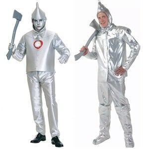 Umorden Adult Mens Wizard Of Oz Tin Man Cosplay Kostuums Halloween Carnaval Purim Mardi gras Party Outfit(China)