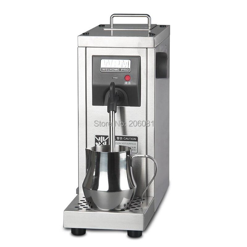 Welhome Commerciale en acier inoxydable professionnel mousseur à lait/lait vapeur/Lait moussant machine pour cappucinno et latte 220 V