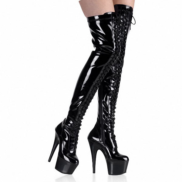 Shoes 6 Inch Pointed Stiletto High Heels Platforms Thigh High Sexy ...