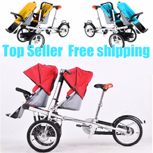 taga twins double baby mum stroller tricycle bike