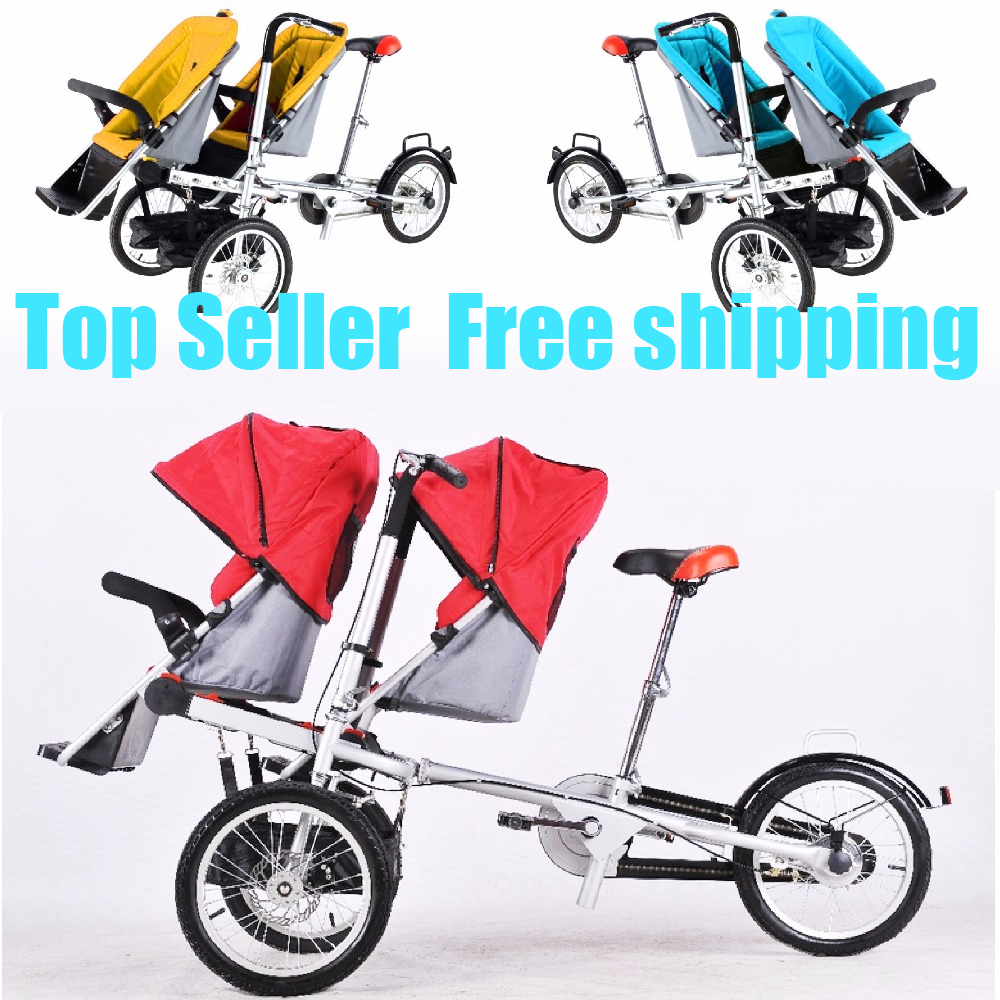 taga twins font b double b font baby mum font b stroller b font tricycle bike