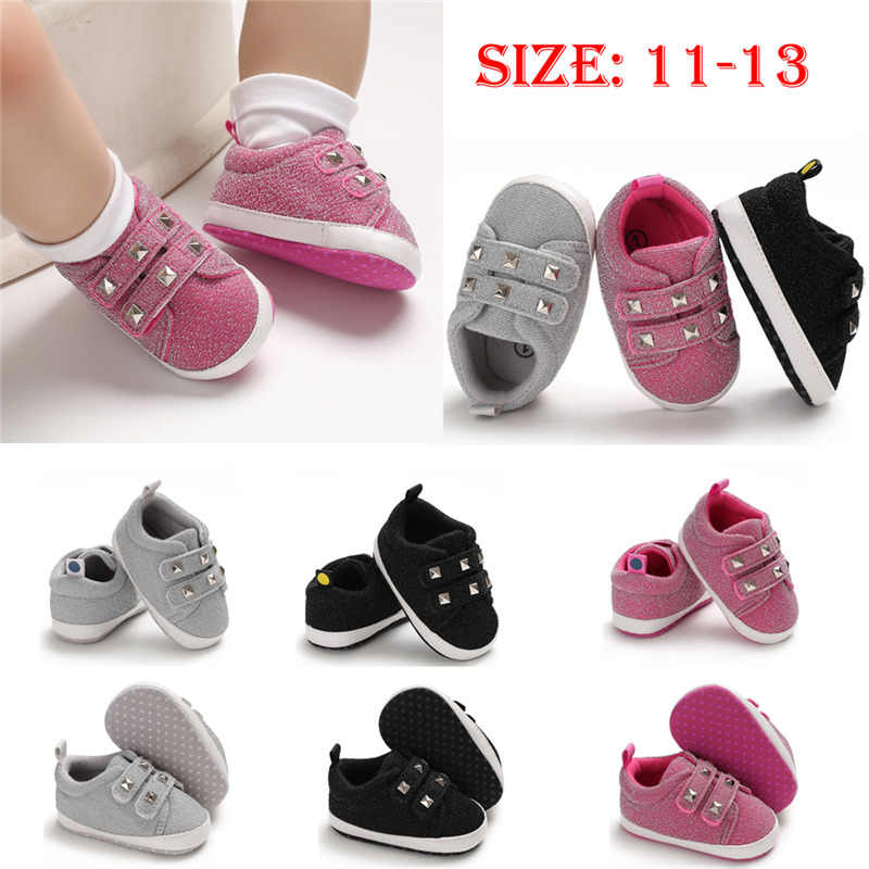 PUDCOCO Pasgeboren Baby Boy Girl Soft Sole Crib Schoenen Canvas Kinderwagen Anti-slip Sneakers Kids Casual Schoenen