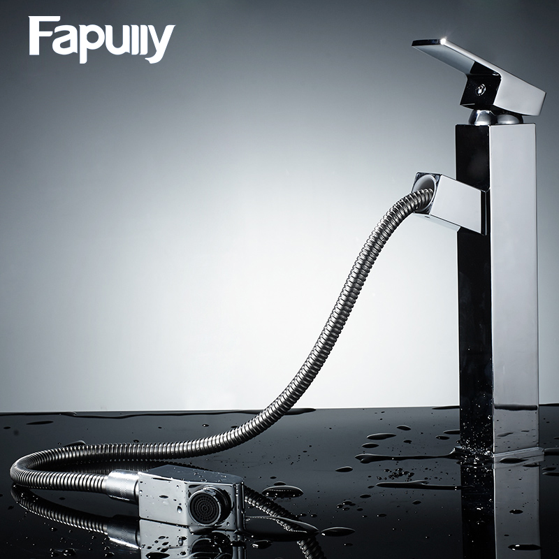 Fapully mixer tap brass chrome wash single lever bathroom basin faucet tall