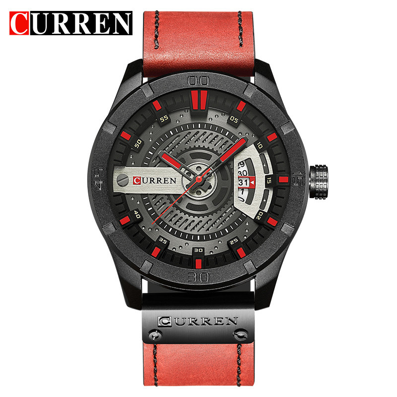 CURREN Top Brand Luxury Fashiong Casual Business Wristwatch Leather Strap Male Clock Military Quartz Men Watches Reloj HombreCURREN Top Brand Luxury Fashiong Casual Business Wristwatch Leather Strap Male Clock Military Quartz Men Watches Reloj Hombre