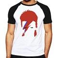 Мода рубашки характер разработанный мужчины 2016 Рок Bowie David Bowie Ziggy Stardust печатных майка хорошего качества марка мужской Футболка