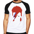 Fashion shirts character designed men 2016 Rock Bowie David Bowie Ziggy Stardust printed t shirt good quality brand male T-shirt