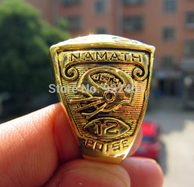 high quality 1968 new york jets world championship ring solid souvenir men christmas gift free shipping in rings from jewelry accessories on