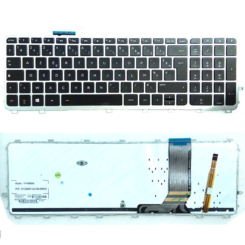 New notebook keyboard for HP ENVY 15 j 17 j 15Z J 17T J FRENCH/JAPANESE/KOREAN/NORWEGIAN/RUSSIAN/SPANISH/UK/CANADIAN layout