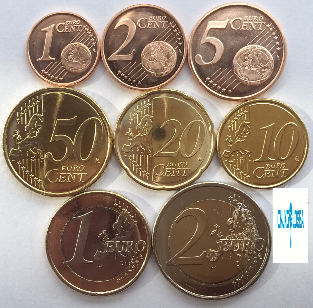 8pcs Estonia Coin 2011 Latest Edition Of The Year The Euro Coins Unc Map Version Original Coin