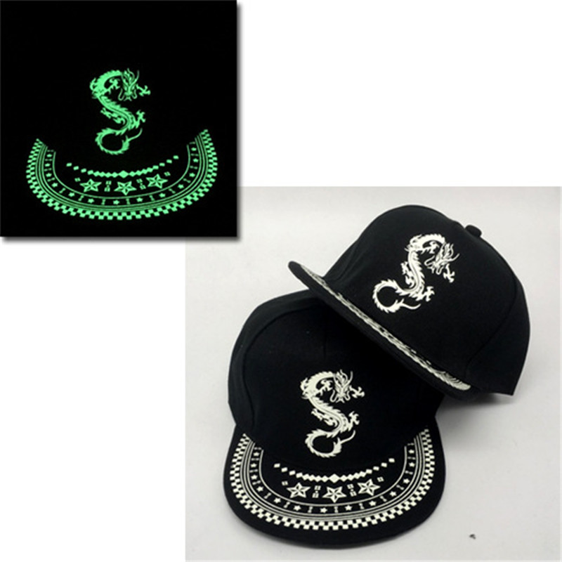 Luminous Hat Women Men Fluorescent   Baseball     Caps   girl Light Snapback   Cap   Glow In The Dark hip hop hats Casquette boy304