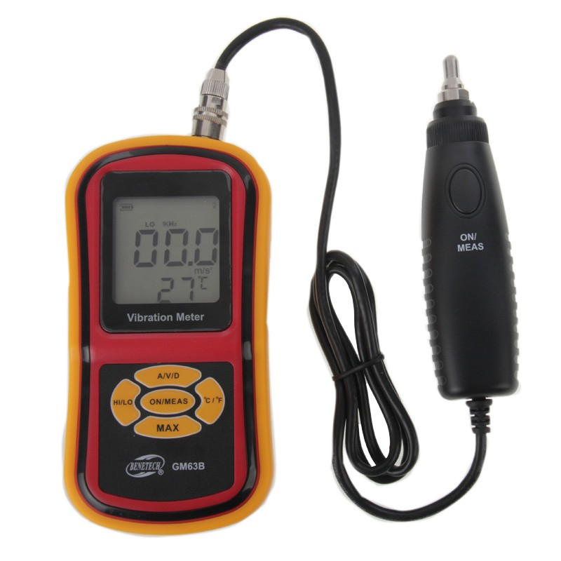 GM63B Portable High Pression Ultrasonic Vibrometer Digital LCD Vibration Meter Analyzer Temperature Meter With Max Hold  цены