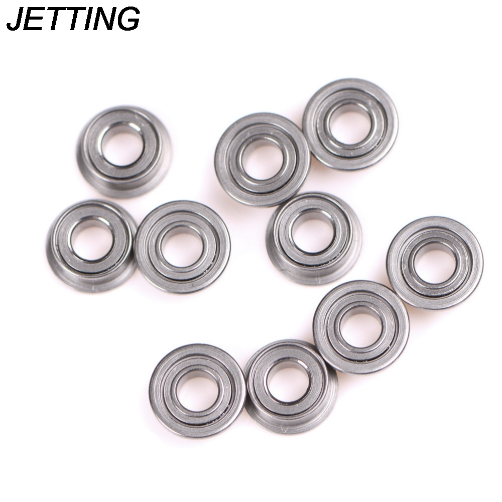 10pcs/lot MF63zz Metal Double Shielded Miniature Deep Groove Flanged Ball <font><b>Bearings</b></font> <font><b>3x6x2.5mm</b></font> For 3D Printer Promotion image