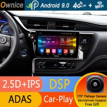 "10,1 ""IPS Octa Core 4G + 32G Android 9,0 reproductor de DVD del coche GPS Navi Radio para Toyota corolla 2016, 2017, 2018, 2019 LHD RHD DSP CarPlay(China)"