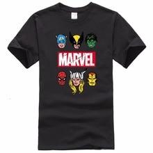New Fashion Marvel Short Sleeve T shirt Men Superhero print t shirt O neck comic Marvel