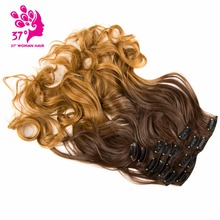 20inch 7pcs/set Long Clip in ins hair Extensions synthetic 1