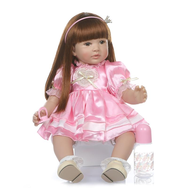 60cm real silicone Girl reborn live doll Childrens clothing model Toys realistic princess with fashion skirt baby reborn menina60cm real silicone Girl reborn live doll Childrens clothing model Toys realistic princess with fashion skirt baby reborn menina