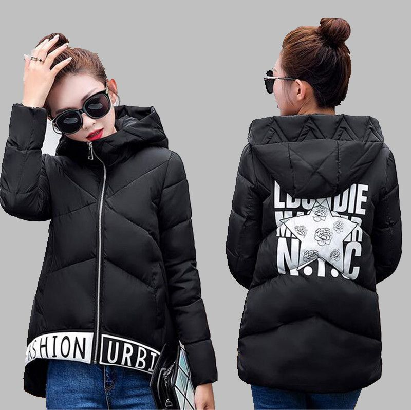 Europ 2016Autumn Winter New Women Cotton down jacket Coat Fashion Hooded Cultivate one s morality Keep