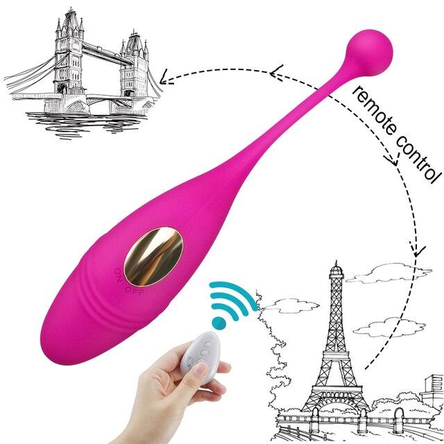 HWOK Panties Wireless Remote Control Vibrator Panties Vibrating Egg Wearable Dildo Vibrator G Spot Clitoris Sex toy for Women 5