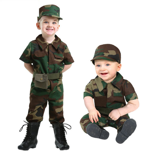 irek new halloween costume luxury us army soldier officer baby uniform cosplay costume factory direct party