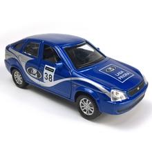 лада Приора 1:32 Масштаб автомобили из сплава отступить литья под давлением модели автомобиля игрушка со звуком и светом коллекция игрушка в подарок для мальчиков