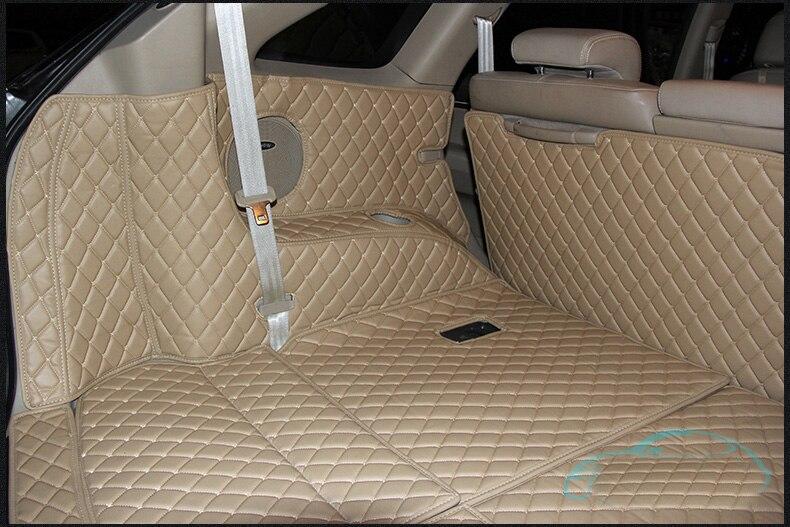 Fiber Leather Car Trunk Mat For Hyundai Veracruz 2006 2007 2008 2009 2011 2012 2013 2014 2015 Hyundai Ix55 Car Accessories