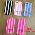 Sexy Fashion For iPhone 6Plus 6 5 4 S SE Pink Soft Silicone Stripe Luxury Phone Case For iPhone7
