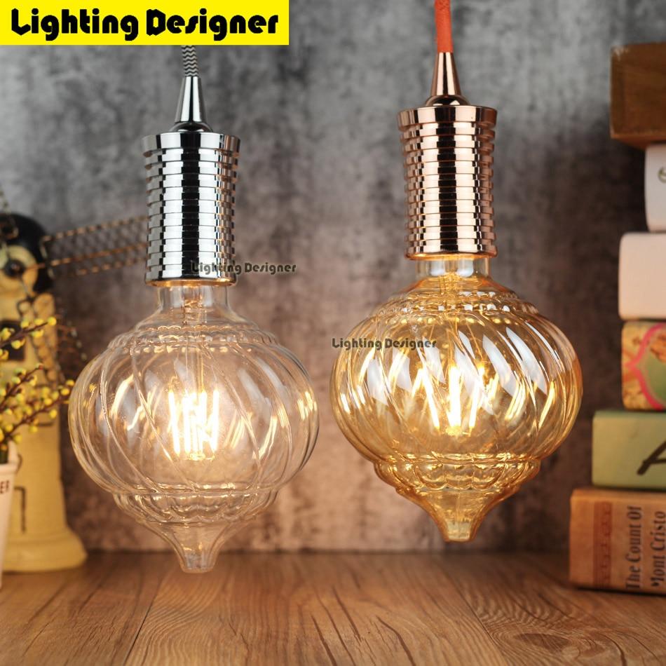 Edison bulb LED E27 twist cone straight led filament AC85-265V 4W decor bulb vintage light bulb antique bulb Pumpkin lamp 5pcs e27 led bulb 2w 4w 6w vintage cold white warm white edison lamp g45 led filament decorative bulb ac 220v 240v