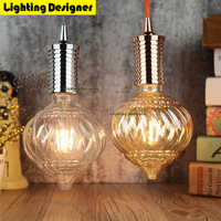 Pumpkin Led Edison Bulb Dimmable Light 110V220V 4W Vintage Led Filament Bulb Energy Saving Lamp Table