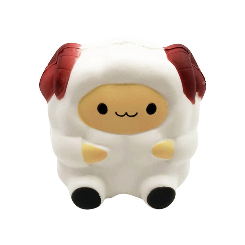 ISHOWTIENDA Cartoon Cute Sheep Squishy Slow Rising Cream Scented Decompression Toy Cure PU Galaxy Gift Toys Stress Relief