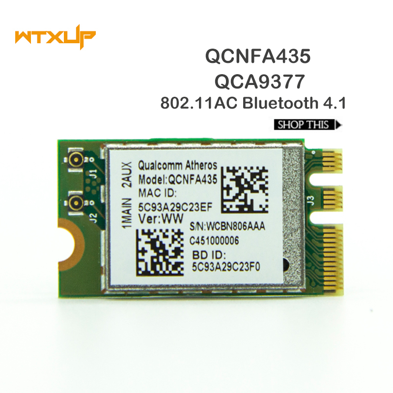 Wireless Adapter Card for Qualcomm Atheros QCA9377 QCNFA435 802.11AC