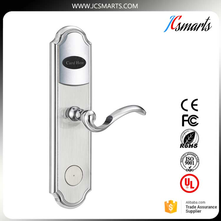 Good quality RFID Key Card Keyless Security Hotel Door Lock system with software, encoder and energy saving switch hotel electronic smart keyless rfid card door lock digital access control key card hotel lock door