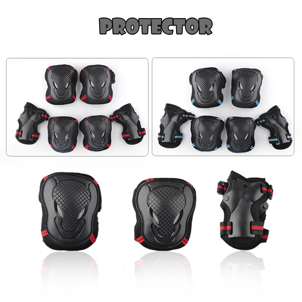 Skating Knee Elbow Palm Protector 6 sets of EKIND for Nerf Gun Game Ice Skating Roller Skateboard