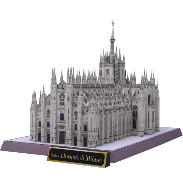 DIY Italy Milan Cathedral Craft Paper Model 3D Architectural Building DIY Education Toys Handmade Adult Puzzle Game