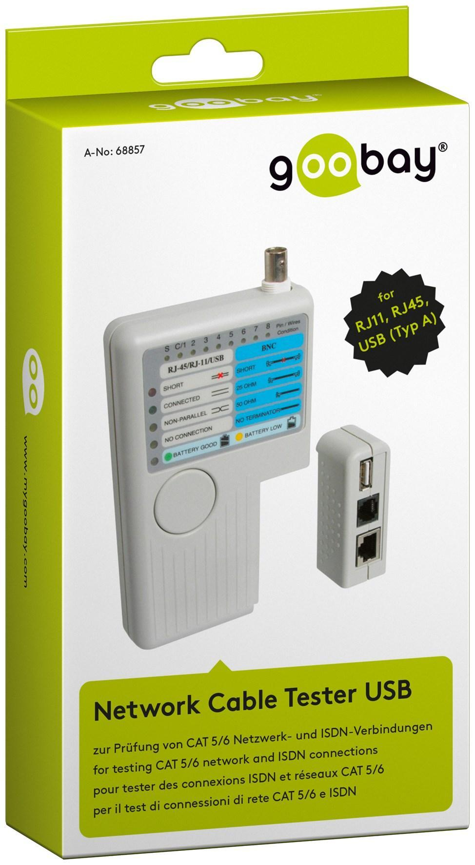 Testeur réseau LAN et téléphone rnis RJ11 RJ45 Tambien vérifie les câbles BNC et USB