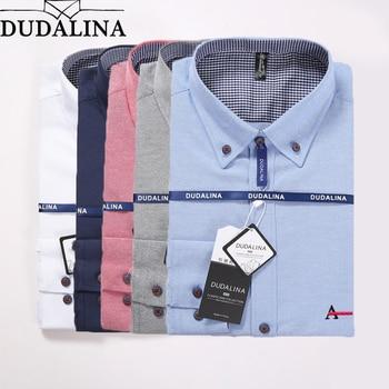 63e71e1c5b5 DUDALINA 2019 Новая мужская рубашка оксфордская рубашка мужская рубашка с длинным  рукавом мужская одежда Slim Fit