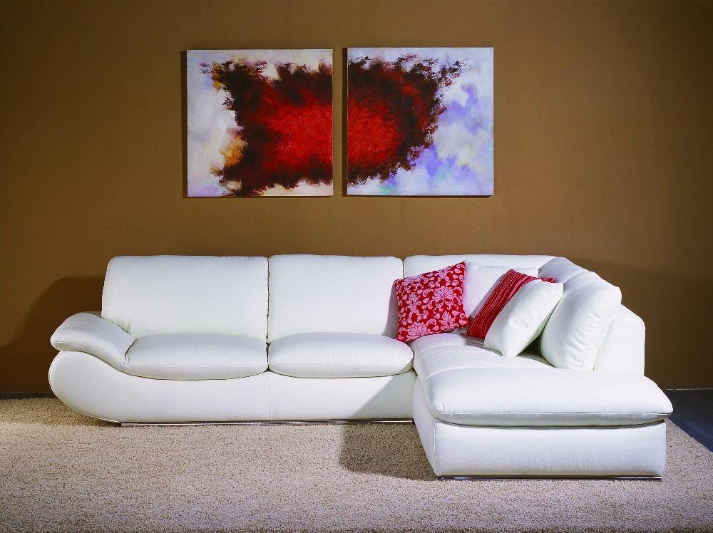 diseador estilo moderno top graduado cuero de vaca genuino sof esquina muebles de casa habitacin to
