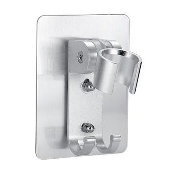 Space aluminium 90 stopni wolna regulowana dysza prysznicowa wsporniki montażowe bezśladowe bez paznokci wsporniki montażowe z hakami 1PC J3 tanie i dobre opinie Shower Nozzle Mount Brackets Brak LeKing aluminum alloy about 10 * 7 5 * 2 84cm 3 94 * 2 95 * 1 12in silver