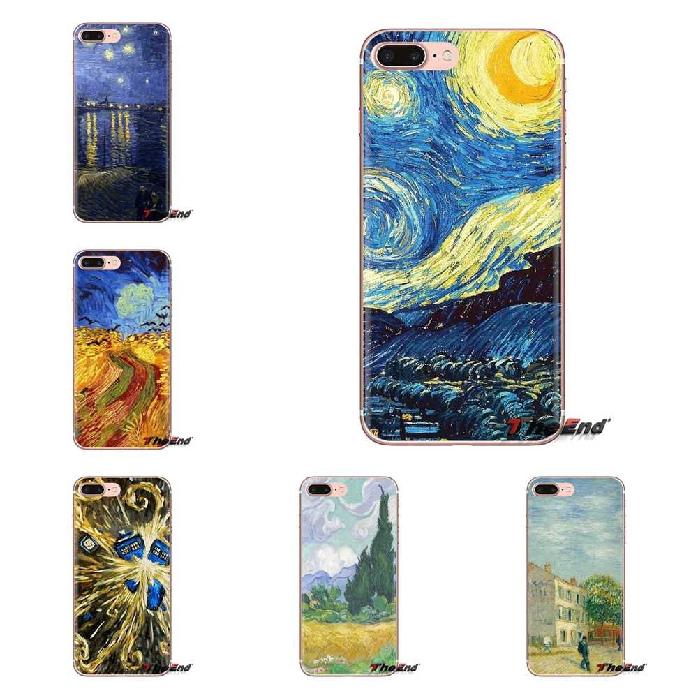 Van Gogh Desktop Wallpaper For Samsung Galaxy S3 S4 S5 Mini S6 S7 Edge S8 S9 S10 Plus Note 3 4 5 8 9 Soft Transparent Case Cover Fitted Cases Aliexpress