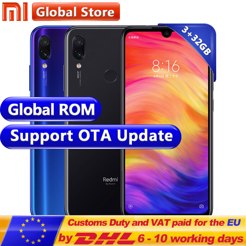 "Global ROM Xiaomi Redmi Note 7 3GB 32GB Smartphone S660 Octa Core 4000mAh 6.3"" FullScreen 2340 x 1080 48MP+13MP MobilePhone(China)"