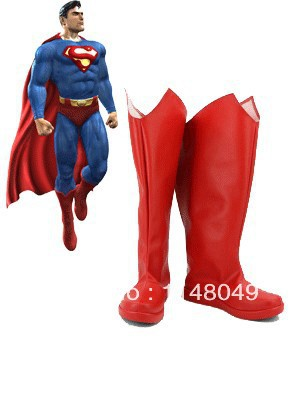 Newest Superman Superhero Boots Red Cosplay Boots
