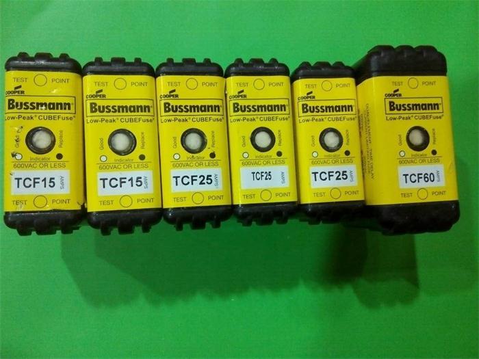 TCF 15 TCF25 TCF60 delay fuse Fuse BUSSMANN new authentic 1525A60ATCF 15 TCF25 TCF60 delay fuse Fuse BUSSMANN new authentic 1525A60A