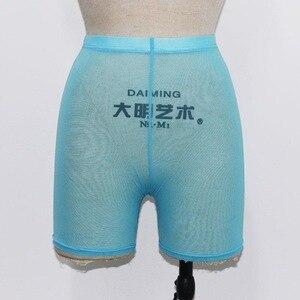 Image 4 - Omsj shorts casual feminino, shorts da moda multicolorido, de malha, sexy, de cintura alta, sexy, 2018