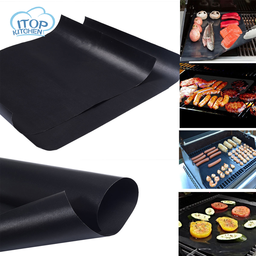 Fiber Glass Fabric 40cm Grill Mat Baking Mat Pad Easy