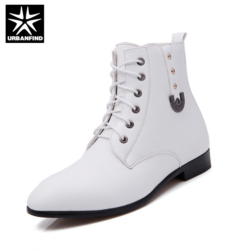 Online Get Cheap White Leather Boots for Men -Aliexpress.com ...