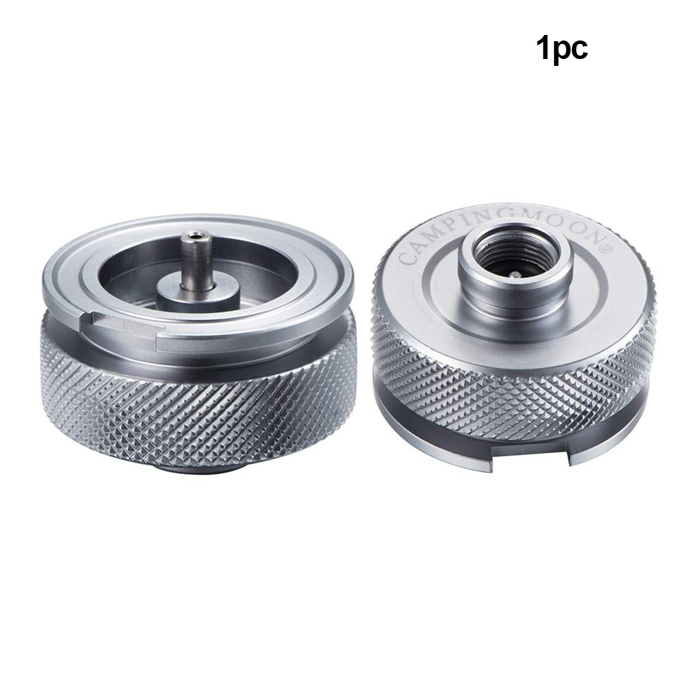 Cooking Tool Outdoor Gas Stove Adapter Furnace Auto Off Aluminum Alloy For Tank Cylinder Converter Bottle Connector Split Type in Outdoor Stoves from Sports Entertainment
